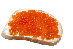 Emparedado del caviar Imagen de archivo libre de regalías
