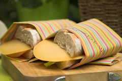 Emparedado del jamón y del queso Foto de archivo