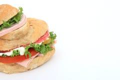 Emparedado del pan con el espacio de la copia Imagen de archivo libre de regalías