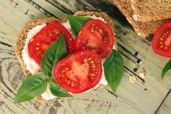 Emparedado del tomate Imagen de archivo