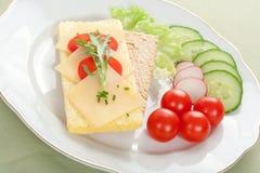 Emparedado dietético foto de archivo libre de regalías