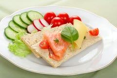 Emparedado dietético fotografía de archivo