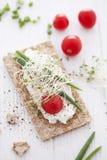 Emparedado quebradizo del pan Fotos de archivo