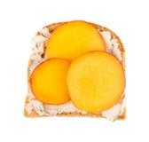 Emparedado sano de la fruta Foto de archivo libre de regalías