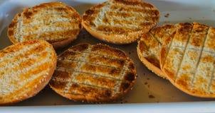 Emparedado tostado del pan Imagenes de archivo