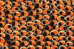 Emparedados con el caviar Imagen de archivo