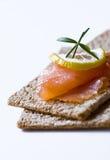 Emparedados con los salmones Imagen de archivo