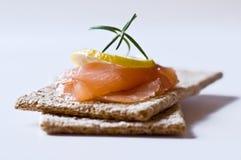 Emparedados con los salmones Fotografía de archivo