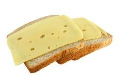 Emparedados con queso Foto de archivo libre de regalías