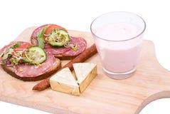 Emparedados y productos del desayuno Imagen de archivo
