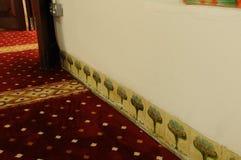Emparede bordear el detalle en Masjid Kampung Hulu en Malaca, Malasia Imagen de archivo