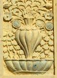 Emparede el arte y la arquitectura floral del templo de 200 años Foto de archivo libre de regalías