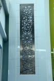 Emparede los artes con adorno floral en Puncak Alam Mosque en Selangor, Malasia Foto de archivo