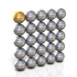 Emparede que se compone de esferas Foto de archivo libre de regalías