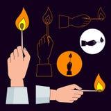Emparejamiento ardiente ilustración del vector