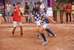 Emparejamiento de fútbol Foto de archivo libre de regalías