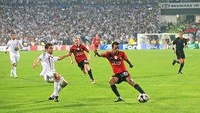 Emparejamiento de fútbol de Champions League Imagenes de archivo