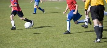 Emparejamiento de fútbol de las muchachas Fotografía de archivo