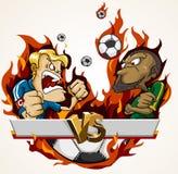 Emparejamiento de la batalla del fútbol Imagenes de archivo