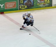 Emparejamiento del hockey sobre hielo de Kharkov- Donbass Fotografía de archivo libre de regalías