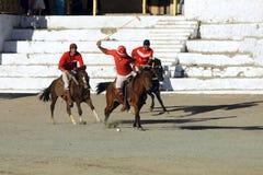 Emparejamiento del polo en Ladakh festifal Imágenes de archivo libres de regalías
