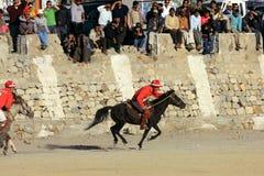 Emparejamiento del polo en Ladakh festifal Fotografía de archivo