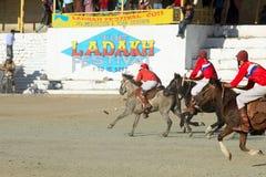 Emparejamiento del polo en Ladakh festifal Foto de archivo libre de regalías