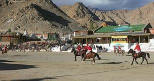Emparejamiento del polo en Ladakh festifal Fotos de archivo libres de regalías