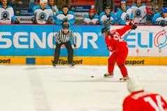 Emparejamiento final de la liga de hockey de la universidad Imagen de archivo