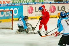 Emparejamiento final de la liga de hockey de la universidad Fotos de archivo libres de regalías