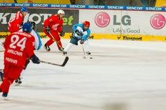 Emparejamiento final de la liga de hockey de la universidad Imagen de archivo libre de regalías