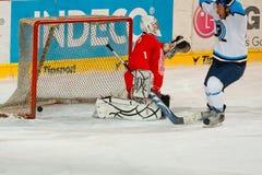 Emparejamiento final de la liga de hockey de la universidad Imágenes de archivo libres de regalías