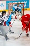 Emparejamiento final de la liga de hockey de la universidad Foto de archivo libre de regalías