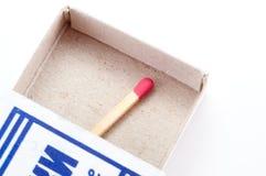 Emparejamiento pasado en la caja de fósforos imágenes de archivo libres de regalías