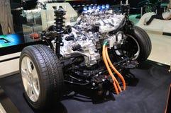 Emparejamientos del motor de gasolina con la transmisión Imágenes de archivo libres de regalías