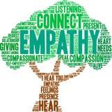 Empatía Brain Word Cloud stock de ilustración