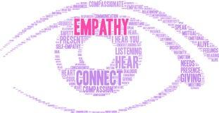 Empatía Brain Word Cloud Foto de archivo libre de regalías