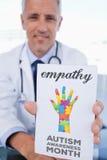 Empatía contra mes de la conciencia del autismo Fotos de archivo libres de regalías