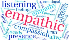 Empathic Word Cloud. On a white background Stock Photography