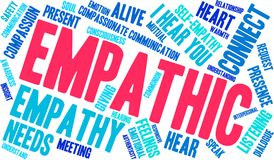 Empathic Word Cloud. On a white background Royalty Free Stock Images