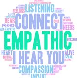 Empathic Word Cloud. On a white background Stock Photos
