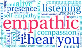 Empathic Word Cloud. On a white background Stock Photo