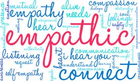 Empathic Word Cloud. On a white background Royalty Free Stock Image