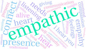 Empathic Word Cloud Stock Images