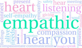 Empathic Word Cloud Royalty Free Stock Image