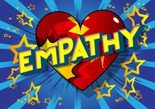 Empathie - Comic-Buch-Artwörter stock abbildung