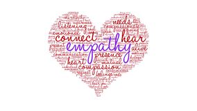 Empathy animated word cloud. On a white background stock illustration