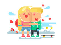 Empathy boy and girl Royalty Free Stock Images