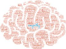 Empathy Brain Word Cloud. On a white background Stock Images