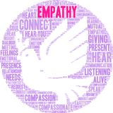 Empathy Brain Word Cloud. On a white background Stock Photos
